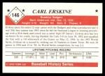1979 TCMA The 50's #146  Carl Erskine  Back Thumbnail