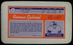 1970 Topps Super #25  Roman Gabriel  Back Thumbnail