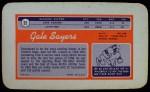 1970 Topps Super #22  Gale Sayers  Back Thumbnail