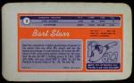 1970 Topps Super #3  Bart Starr  Back Thumbnail