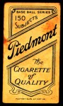 1909 T206  Fred Tenney  Back Thumbnail