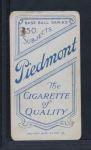 1909 T206 BAT Rube Manning  Back Thumbnail