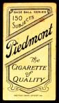 1909 T206  Jack Powell  Back Thumbnail