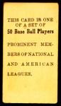 1909 E101  Bob Bescher  Back Thumbnail