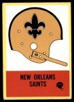 1967 Philadelphia #121   New Orleans Saints Helmet #121 Front Thumbnail