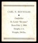 1933 Tattoo Orbit R305 #50  Carl N. Reynolds   Back Thumbnail