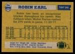 1982 Topps #294  Robin Earl  Back Thumbnail