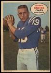 1968 Topps Poster #1  Johnny Unitas  Front Thumbnail