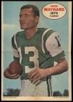 1968 Topps Poster #14  Don Maynard  Front Thumbnail