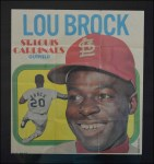 1970 Topps Poster #4  Lou Brock  Front Thumbnail