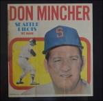 1970 Topps Poster #17  Don Mincher  Back Thumbnail