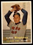 1957 Topps #378  Elmer Singleton  Front Thumbnail