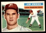 1956 Topps #114 GRY Jim Owens  Front Thumbnail