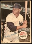 1967 Topps Poster Pin-Up Poster #6  Mickey Mantle  Front Thumbnail