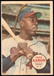 1967 Topps Poster Pin-Up Poster #15  Hank Aaron  Front Thumbnail