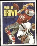 1970 Topps Poster #5  Willie Brown  Front Thumbnail