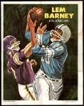 1970 Topps Poster #12  Lem Barney  Front Thumbnail