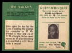 1966 Philadelphia #158  Jim Bakken  Back Thumbnail