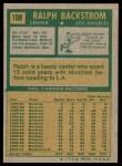 1971 Topps #108  Ralph Backstrom  Back Thumbnail