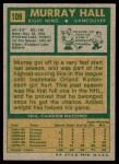 1971 Topps #109  Murray Hall  Back Thumbnail
