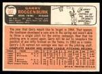 1966 Topps #582 COR Garry Roggenburk  Back Thumbnail