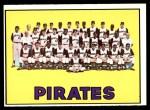 1967 Topps #492   Pirates Team Front Thumbnail