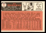 1966 Topps #251  Ed Brinkman  Back Thumbnail
