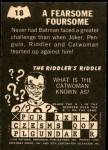 1966 Topps Batman -  Riddler Back #18 RID  Fearsome Foursome Back Thumbnail