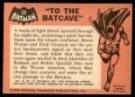 1966 Topps Batman Black Bat #39 BLK  To the Batcave Back Thumbnail
