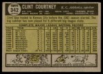 1961 Topps #342  Clint Courtney  Back Thumbnail