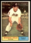 1961 Topps #60  Woodie Held  Front Thumbnail