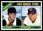 1966 Topps #549   -  Casey Cox / Al Closter Senators Rookies Front Thumbnail
