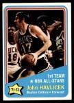 1972 Topps #161   -  John Havlicek  NBA All-Star - 1st Team Front Thumbnail