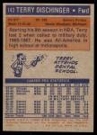 1972 Topps #143  Terry Dischinger   Back Thumbnail