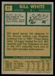 1971 Topps #11  Bill White  Back Thumbnail