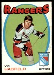 1971 Topps #9  Vic Hadfield  Front Thumbnail