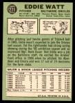 1967 Topps #271  Eddie Watt  Back Thumbnail