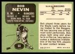 1970 Topps #60  Bob Nevin  Back Thumbnail