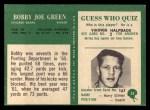 1966 Philadelphia #34  Bobby Joe Green  Back Thumbnail