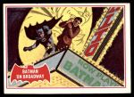 1966 Topps Batman Red Bat #44 RED  Batman on Broadway Front Thumbnail