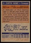 1972 Topps #24  Curtis Rowe   Back Thumbnail