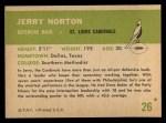 1961 Fleer #26  Jerry Norton  Back Thumbnail