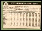 1967 Topps #492   Pirates Team Back Thumbnail