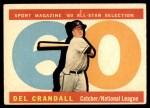 1960 Topps #568   -  Del Crandall All-Star Front Thumbnail