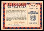 1959 Fleer Indian #8   Indian Mother Preparing Pemmican Back Thumbnail