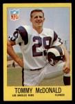 1967 Philadelphia #91  Tommy McDonald  Front Thumbnail