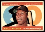 1960 Topps #554   -  Willie McCovey All-Star Front Thumbnail