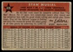1958 Topps #476   -  Stan Musial All-Star Back Thumbnail