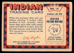1959 Fleer Indian #12   Dancing Sioux Back Thumbnail
