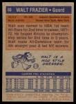 1972 Topps #60  Walt Frazier   Back Thumbnail